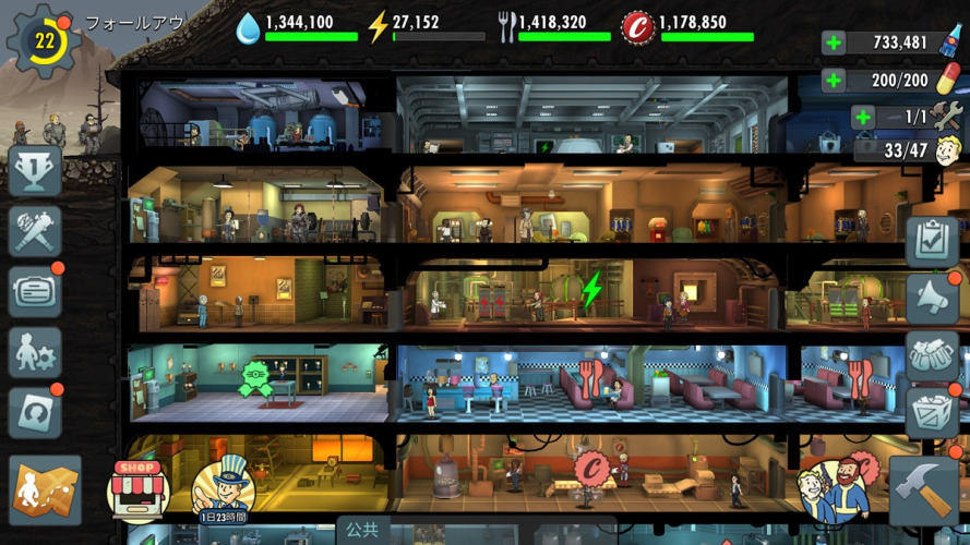 Fallout Shelter Onlineのゲーム画像・スクリーンショット