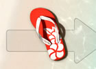 ハンゲームからクールビズアプリがスマートフォンで登場!「ビーチサンダル・ビーチ」無料配信スタート
