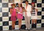 石田純一さんが美女ゴルファー「みんGALS」とPS Moveでゴルフ対決!プレス向け製品発売イベントを開催