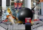 PS3/PS Vita「Jスターズ ビクトリーバーサス」悟空vsルフィの巨大フィギュアが渋谷に出現!夢の対決を描いたポスター渋谷駅に登場
