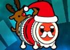 3DS「太鼓の達人 どんとかつの時空大冒険」店頭ポスターに「サンタクロースのきせかえ」QRコードが掲示