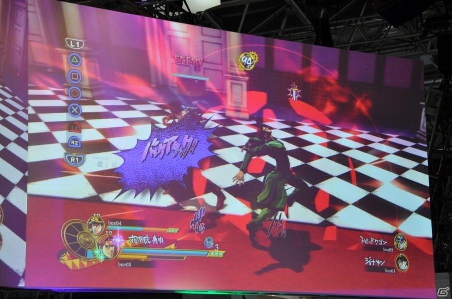 【TGS 2015】上田燿司さんと共に4人対戦!PS4/PS3「ジョジョの奇妙な冒険 アイズオブヘブン」ステージをレポート