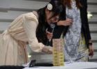 【TGS 2015】三澤紗千香さんによる実機プレイ映像が公開!来場者への直筆サイン色紙のプレゼントも行われた「ザクセスヘブン リベリオン」ステージ