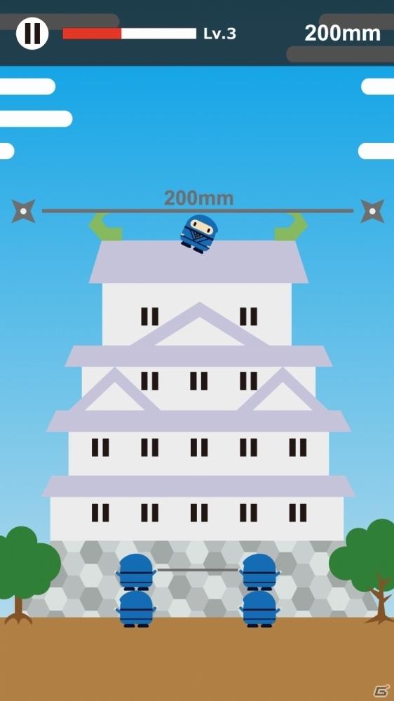 その忍者は高く飛びたかった―おバカな激ムズアクション「高く飛びたいでござる~Fly High Ninja」がiOS/Android向けに配信