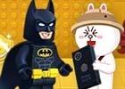 「LINE バブル2」レゴになったバットマンをなかまにしよう!映画「レゴ バットマン ザ・ムービー」コラボがスタート