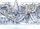 """「ファイナルファンタジーXIV」邪竜ニーズヘッグと竜騎士エスティニアンをデザインした雪像""""白銀の決戦""""が「第69回さっぽろ雪まつり」に出展!物販情報も公開"""