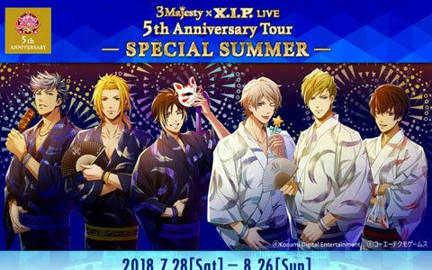 ライブ「3 Majesty × X.I.P. LIVE -5th Anniversary Tour SPECIAL SUMMER-」のチケット一般販売が開始