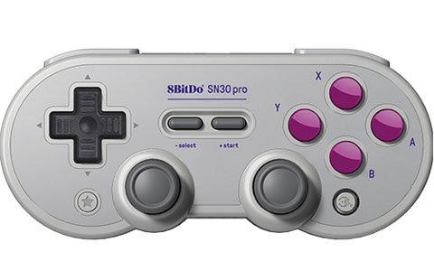 懐かしのデザインと最新の操作機能を兼ね備えたゲームコントローラー「SN30 PRO GAMEPAD」が7月31日に発売!