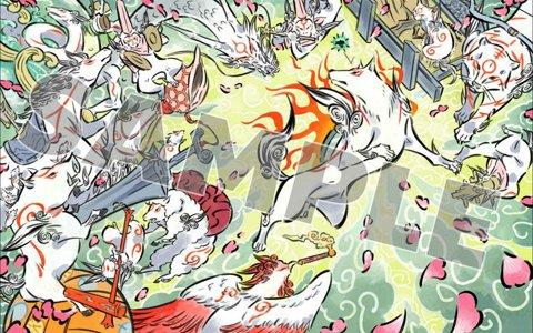「大神」のオンラインキャラクターくじが発売!島崎麻里氏描き下ろしイラストのグッズが登場