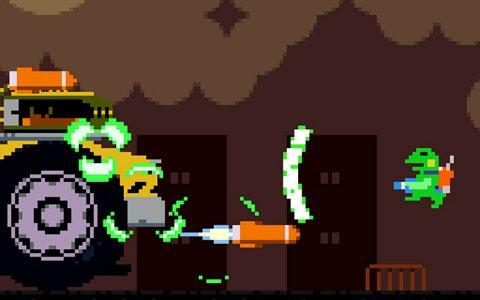サラリーマンのカエルが出張先を大冒険!「ケロブラスター」Nintendo Switch版が配信開始