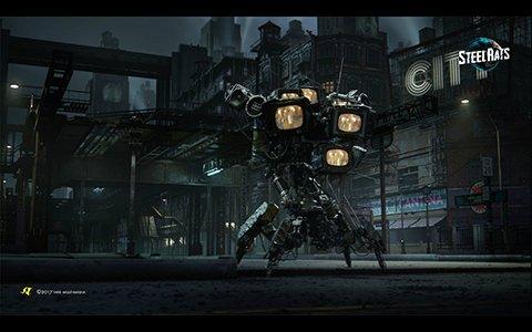 「スティール ラッツ」東京ゲームショウ2018エントランスにジャンクボットのオブジェが展示!