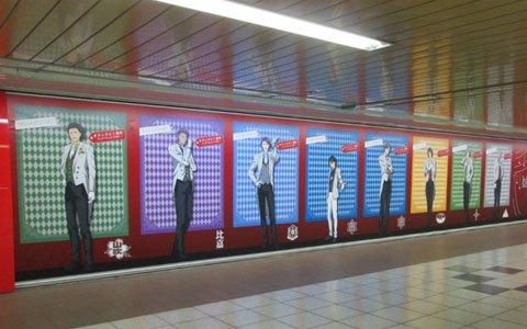 「新テニスの王子様 RisingBeat」新宿メトロプロムナードに1周年広告が登場!