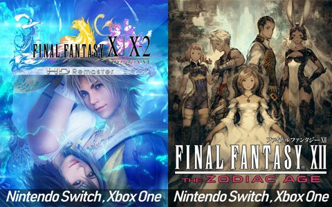 「FINAL FANTASY X/X-2 HD Remaster」「FINAL FANTASY XII THE ZODIAC AGE」Switch/Xbox One版の発売日が決定!