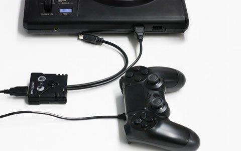 メガドライブ・PCエンジンでPS4/PS3用コントローラーが使用できるコンバーターが登場!