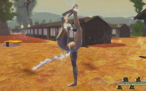 両手足から水を噴射する火消し!?褌一丁で江戸の空を舞う「漢水~Otokomizu~」が3月1日発売