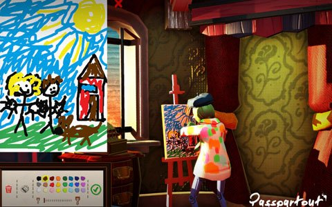 絵を描いてストーリーを進めるシミュレーション「パスパルトゥー:アーティストの描いた夢」が配信!