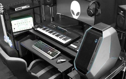 ゲーミングデスクがDTMデスクに早変わり!MIDIキーボード専用の昇降式スタンドが発売