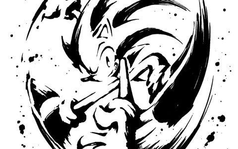 「ソニック・ザ・ヘッジホッグ」28周年を記念して和柄アイテム新シリーズ「墨絵 超音速針鼠」が登場!