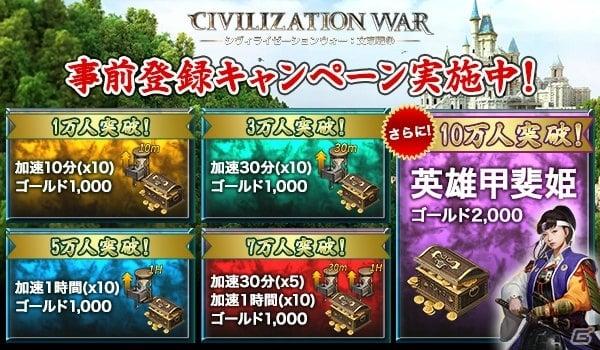 スマホ向け歴史戦略ゲーム「シヴィライゼーションウォー:文明戦争」が2019年末に配信!事前登録受付が開始