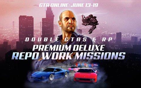 「GTAオンライン」2倍のGTAマネーとRPが獲得できる「プレミアム・デラックス回収稼業」ミッションが開始!