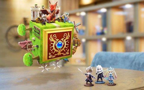 ガチャンコバトルRPG「ドラゴン&コロニーズ」が配信!キューブ状の「ハコロニー」に王国をクラフトしよう