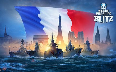 「World of Warships Blitz」フランス艦艇ツリーにTurenneやCourbetなど8隻の戦艦が追加!