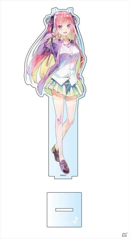「五等分の花嫁∬」約20cmのデカアクリルスタンドとフルカラーTシャツがPALE TONE seriesより発売!