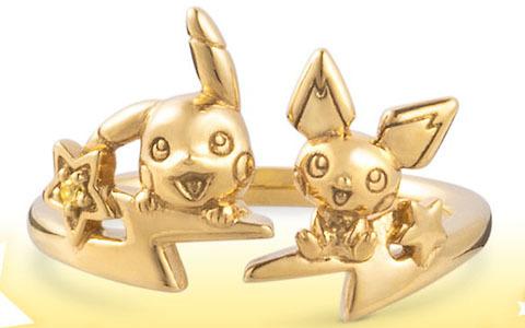 ピカチュウ&ピチューをモチーフにしたフォークリングが登場!イエローゴールドカラーで輝く星をアクセントに